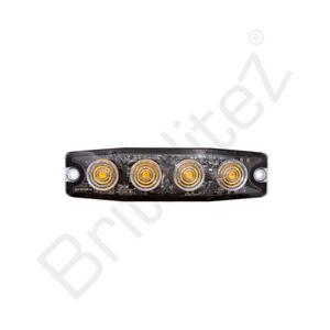 4 LED Ultra Slim WHITE LED Strobe Warning Lamp Ultra Small, Britalitez UK