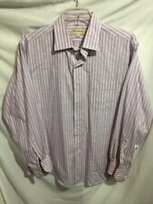 Tommy Bahama Men's Purple Striped Dress Shirt Size Sz Large 16.5