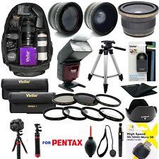 FULL 8K HD BUNDLE KIT LENSES BACKPACK FOR Pentax K-70 DSLR Camera 18-135mm Lens