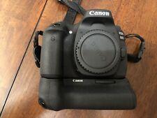 Canon Eos 80D 24.2 Mp Digital Slr Camera Body Only Plus Battery Grip Bg-E14 Exc!