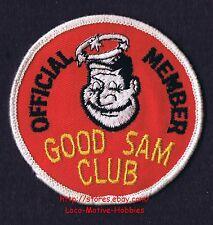 LMH PATCH Badge  GOOD SAM CLUB  Travel  OFFICIAL MEMBER  Sams STAR Halo Logo  RV