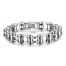 Men Jewelry Bike Chain Stainless Steel Bracelet 8.5inch