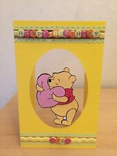 Personalised Handmade Winnie the Pooh Decoupage Tri Fold Yellow Birthday Card 6