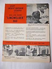Lincoln Welder Brochure Vintage