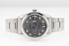 Estate $12,000 OYSTERDATE ROLEX MENS 34mm Diamond METEORITE Watch WARRANTY