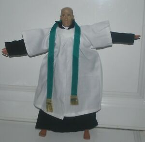 """Priest Robe for 1/6 scale 12"""" action figure man.Hot Toys Dragon BBI"""