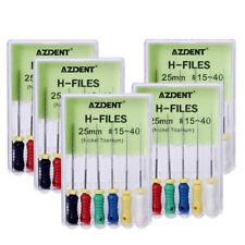 5xDental 25mm #15-40 Hand Use Endodontic Root Canal Niti H-File AZDENT Bravo