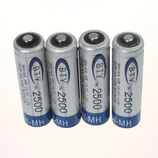 Hot 4pcs BTY 2500mAh 1.2V AA Ni-MH High quality Rechargeable Batteries For MP3
