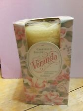 Crabtree and Evelyn Hand Rolled Beeswax Candle Veranda Vintage NIB