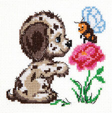 CROSS Stitch KIT chi siete? (il mio cane) ART. 18-50