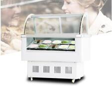 Gelato Hard Ice Cream Display Case 12 Pan Display Freezer Machine Showcase Maker
