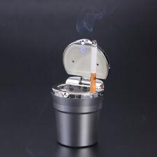 Aschenbecher Kfz Auto Windaschenbecher mit Deckel und LED Licht