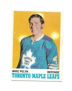 1970-71 OPC:#107 Mike Pelyk,Maple Leafs RC