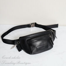 NWT Coach F75776 Mens Leather Terrain Belt Bag in Black