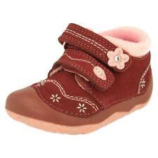 Chaussures décontractées rouges en cuir pour fille de 2 à 16 ans