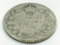 1929 Canada 10 Ten Cent Silver Dime Canadian Circulated George V Coin J328