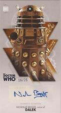 "Doctor Who Widevision: Bronze Nicholas Briggs ""Dalek Voice"" Autograph Card 16/25"