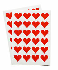 48 Love Heart stickers romantic decoration and card seals St Valentine (28-01)