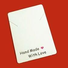 """Etiketten Label """"Hand made with love""""  70x40 mm 100 Stück nenad-design R211"""