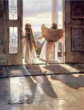 "Steve Hanks,""Angels Out the Door"" open edition print - Hand-signed"