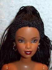 NUDE-Barbie-29208-Head Mold:Asha-Body Type:Poseable-Hair Color:Black-Braids