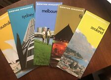 QANTAS Airways. 5 Travel Brochures Set. Fiji, Australia & NZ. 1970