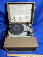 Audiotronics 304A Portable Phonograph Classroom Record Player Turntable VTG 16-3