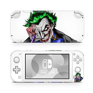 Nintendo Switch Lite Console Skin Decal Sticker Joker White Custom Design Set