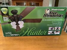 Hunter Westminster 52in New Bronze Ceiling Fan with light MODEL 53155