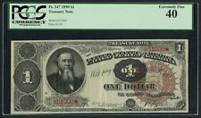 FR347 $1 1890 TREASURY NOTE PCGS XF 40 FANCY SERIAL #A51000 WLM4358