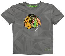 Reebok NHL Kids Chicago Blackhawks Palydry Frost Logo Tee, Gray