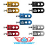 "SE RACING Lockit BMX Chain Tensioner Adjuster Pair Alloy 3/8"" (10mm) Axles Bikes"