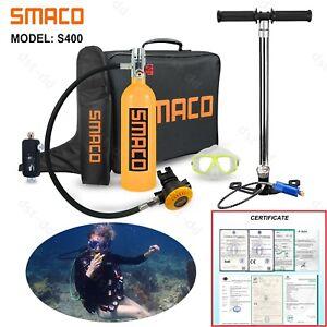 SMACO S400 Mini Scuba Diving Kit 1L Oxygen Cylinder Tank Equipment Hand Air Pump