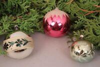 Christbaumschmuck Weihnachtskugeln Set handbemalt alt Glas Weihnachten Deko