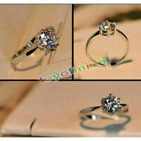Femme mode 925 bijoux en argent sterling anneau de cristal