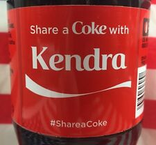 Share A Coke With Kendra Limited Edition Coca Cola Bottle 2015 USA