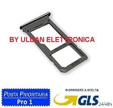 SLOT CARRELLO PORTA SCHEDA SIM CARD SD VANO PER SAMSUNG GALAXY S8 G950F NERO
