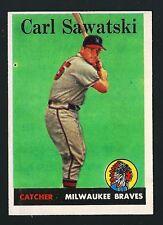 Carl Sawatski -1958 Topps Baseball Card # 234 - Milwaukee Braves Catcher