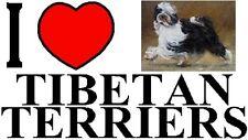 I LOVE TIBETAN TERRIERS Car Sticker By Starprint - Featuring the Tibetan Terrier