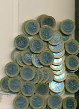 100 BI-METAL 5 PESO COINS from the DOMINICAN REPUBLIC (ALL DATING 2002)