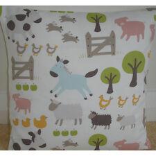 "16"" Cushion Cover John Lewis Farmyard Animals Chickens Pigs Donkey Sheep Cow NEW"