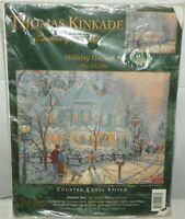 Candamar Designs Thomas Kinkade Cross Stitch Kit 51286 Holiday Gathering NEW