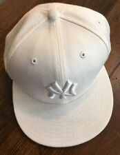 New York Yankees Baseball Cap Hat White On White By New Era MLB