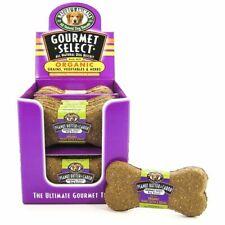 Natures Animals Gourmet Select Organic Dog Bone - Peanut Butter & Carob Flavo.