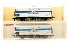 FLEISCHMANN 'HO' GAUGE PAIR OF 'TRANSTHERMOS' REFRIGERATED VANS (1C)