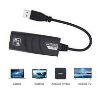 USB 3.0 to 10/100/1000 Mbps Gigabit RJ45 Ethernet LAN T0P8 Net Adapter F N1W9