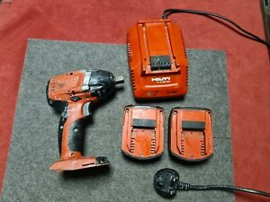 """Hilti SIW 14-A cordless impact wrench 1/2"""" 2 x battery and charger 201"""