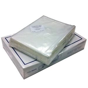 CLEAR PLASTIC POLYTHENE BAGS MEDIUM DUTY 250 GAUGE