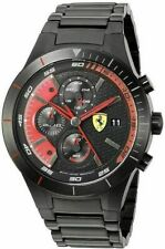 Ferrari watch Chronograph Red Rev Evo black 0830264 Free UK Shipping