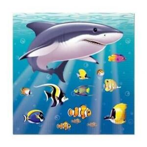 Under The Sea Beverage Napkins 16 Pack Marine Life Birthday Party Decoration